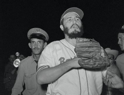 Fidel Castro in Baseball Uniform