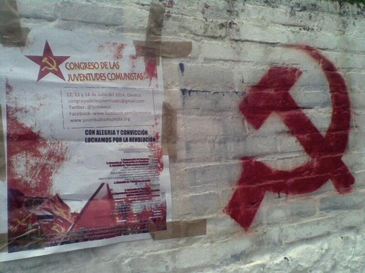 Propaganda al Congreso de las Juventudes Comunistas en las calles de todo México. Foto: Cortesía