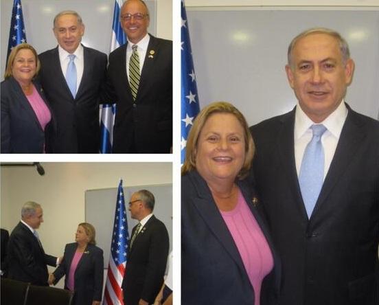 Ros Lethinen y Netanyahu, reuniones criminales. Foto: Contrainjerencia