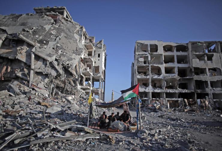 Horrores de la agresión israelí sobre Gaza. Foto: NBC