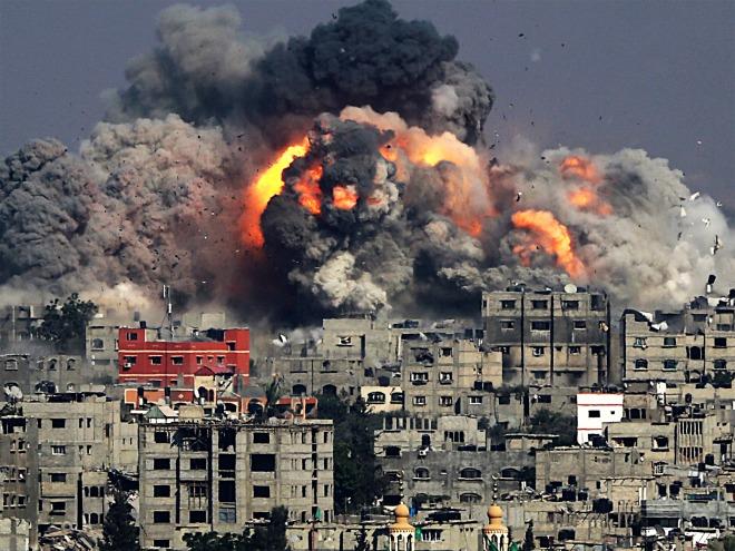 El objetivo de Israel fue bombardear zonas civiles. Foto: Indymedia