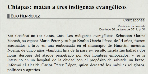 matan a pastor evangelico