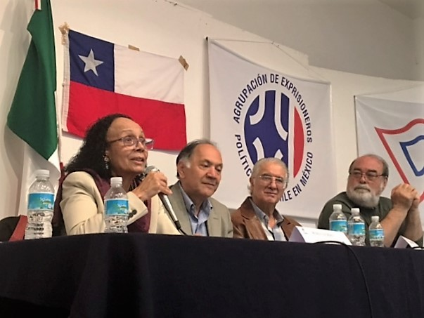 alberto-buitre-lourdes-urbaneja-embajada-venezuela-mexico-conferencia-derechos-humanos
